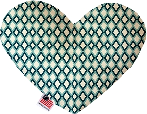 Blue Diamonds 8 inch Heart Dog Toy